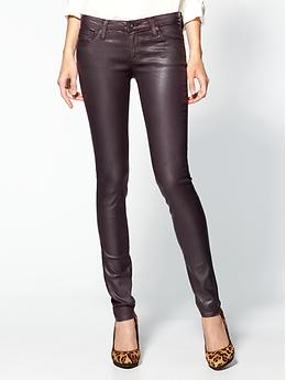 Leatherette Legging Jeans - Blackberry